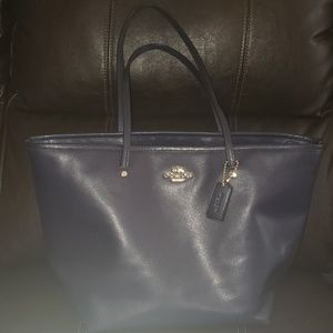Authentic large coach tote